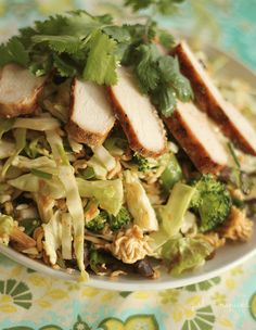 Chinese Chicken Salad - super crunchy and flavorful and the dressing is the best!