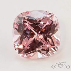1.28 Carat Light Peach Cushion Lab Sapphire. Green Lake Jewelry STU24493010B