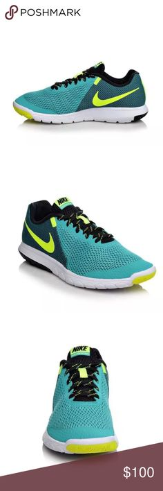 ➰ NEW LISTING ➰ Women's Nike Flex Experience Running shoes.  • Combination mesh and knit fabric upper.  • Flexible, shock absorbing Phylite midsole.  • Fabric heel stripe overlay.  • Lace-up closure for a secure fit.  • Lightly cushioned tongue and collar for comfort.  • Soft fabric lining.  • Cushioned insole.  • Lightweight synthetic overlay at the toe.  • Rubber pods in toe and heel areas for high wear durability.  • Innersleeve construction provides secure lockdown.  • Signature Swoosh…
