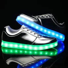 LED Lichtgevende Schoenen Zilver Dames