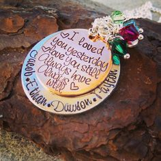I Love You Necklace  Personalized Necklace  by SweetAspenJewels, $28.00