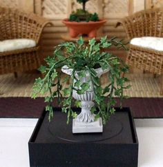 Dollhouse Miniature Planted Ivy - 1/12th Scale