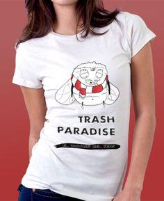 Camiseta promocional de la sèrie Trash Paradise.  #trash #paradise #tshirt