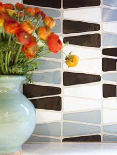 Like this backsplash with different colors