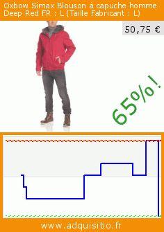 Oxbow Simax Blouson à capuche homme Deep Red FR : L (Taille Fabricant : L) (Sports Apparel). Réduction de 65%! Prix actuel 50,75 €, l'ancien prix était de 144,98 €. https://www.adquisitio.fr/oxbow/simax-blouson-capuche-1