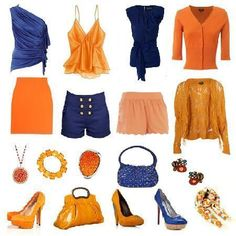 Conoce los colores que mejor combinan | 4LittleDots Diy Fashion, Fashion Outfits, Colourful Outfits, Street Chic, Yves Saint Laurent, Photoshoot, Orange, Clothes For Women, Style
