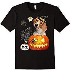 Men's Beagle T-Shirt, Beagle Pumpkin, Halloween, Black