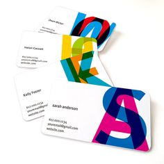 Business card set of 100 / Namecard / Calling card / Mommy card / Minimalist / Contemporary / Modern / offset printing / Overlap Initial