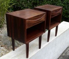 Mid century bedside tables
