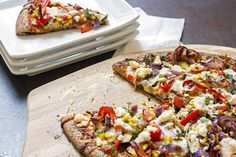 Recipe: Skinny Roasted Veggie and Ricotta Pizza