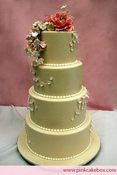 Cherry Blossom Wedding Cake by Pink Cake Box