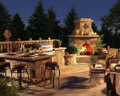 kitchen designs with islands and fire place | Outdoor Kitchen Design Tips and Planning, MA