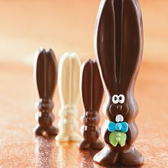 Our solid chocolate bunny, Ears, is hopping around the Harry & David campus this #Easter. Follow his adventures here on Pinterest and on Instagram. #allears