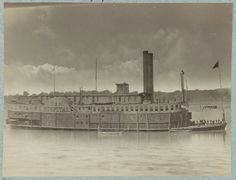 hospital ship on the Mississippi during the war
