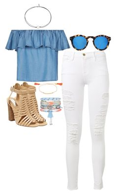 """""""Untitled #159"""" by maggiejanexo on Polyvore featuring Frame Denim, Illesteva, Steve Madden, Gorjana and New Look"""