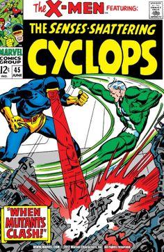 X-Men #45 ...and for more X stuff, check out: adamantiumclaws.com #mutants #mutantbattle #mutant #cyclops #classicxmen #xmen45