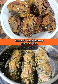 My mom used to prepare really yummy patra growing up. I called her and asked her the recipe as I wanted to document her recipe. I like to preserve my mom and MIL's recipe for the future generation. I couldn't find arbi patta (colocasia leaves) .... but shortage of ingredients never stopped me 😀 Patra or pattarveliya is a very famous Gujarati snacks. It is prepared using colocasia leaves (arbi patta) and besan. They are steamed first and then shallow fry. Spinach Leaves, Coriander Seeds, Curry Leaves, Vegetarian Cooking, Nut Free, Shallow, Gluten Free Recipes, Preserve, Fries