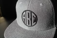 3D embroidery. Cut out monogram.