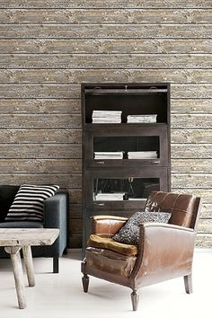 Weatherboard Recycled Timber Wallpaper RS IR50205, Traditional Wallpaper