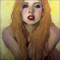 #art #portrait #painting #woman #Malcolm Liepke