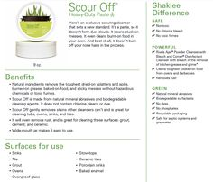 Shaklee Scour Off: My ABSOLUTE Favorite Cleaner