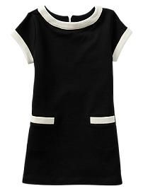 Contrast French terry pocket dress