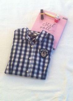 Kaufe meinen Artikel bei #Kleiderkreisel http://www.kleiderkreisel.de/damenmode/blusen/151080489-napapijri-karo-hemd-gr-m-college-preppy-style-marine-blau-weiss