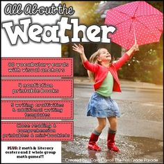 ***WEATHER*** I have always loved teaching my kids about the weather . This is one of my most favorite resources to supplement our weather learning! These tried and true activities are engaging and hands-on.a sure-fire way to get your Primary Teaching, Teaching Activities, Teaching Science, Science For Kids, Earth Science, Fun Learning, Teaching Kids, Weather For Kids, Weather Unit