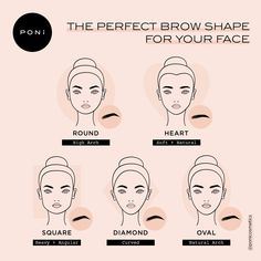 Perfect Face Shape, Perfect Eyebrow Shape, Perfect Brows, Eyebrows For Oval Face, Mircoblading Eyebrows, Oval Face Shapes, Eyebrow Shapes, Eyebrow Face Shape, Diamond Face Shape