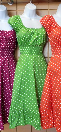 Really cute polka dot dresses. The shapes of this dress is great for every body shape. Hides any lumps and bumps you might have, especially after that third latte. #fashion