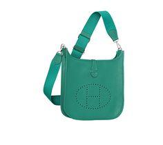 where to buy hermes birkin bags online - Evelyne III Bag in Izmir blue Clemence bull calfskin, closed with ...