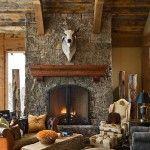 #FireplaceFriday  www.tetonheritagebuilders.com  The Bear Trap Great Room 2