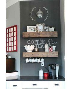 """""""Bom dia! Quem ama começar o dia com um cafezinho? ☕️ #decoraçãopravocê"""""""