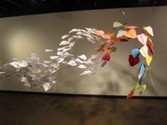 Paper Airplane Flock Sculpture