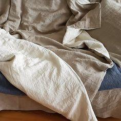 Reversible ablandado edredón lino de lino puro libre de medio