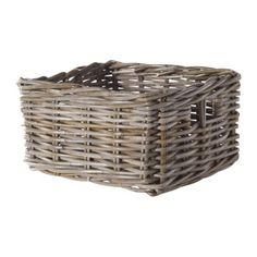 "JD-BYHOLMA Basket IKEA Handwoven; each basket is unique. For on galvanized shelf. (shelf depth 10.5"")"