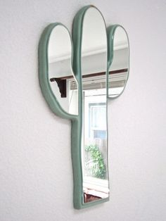 Retro Cactus Mirror Vintage southwest style cactus by WingedWorld