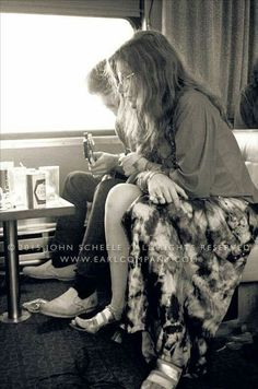 Janis on the festival Express.