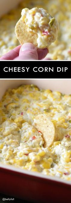 This cheesy corn dip is pure comfort food and ridiculously easy to make! Perfect for get togethers or a Cinco de Mayo party! This cheesy corn dip is pure comfort food and ridiculously easy to make! Perfect for get togethers or a Cinco de Mayo party! Snacks Für Party, Appetizers For Party, Appetizer Recipes, Snack Recipes, Cooking Recipes, Mexican Appetizers Easy, Easy Party Food, Easy Party Dips, Party Food Ideas