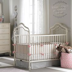 Angelina Iron Crib In French Vanilla and Luxury Baby Cribs in Baby Furniture : Iron Cribs at PoshTots