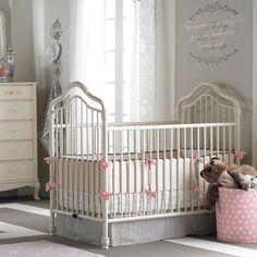 Great affordable Iron Crib!  Angelina Iron Crib in French Vanilla from PoshTots