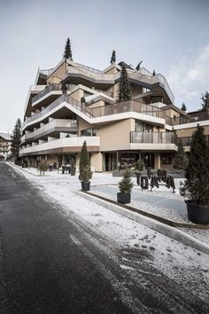 Completed in 2016 in La Villa, Italy. Images by Alex Filz            . In the demolition and reconstruction of the Hotel Tofana in St. Kassian / S. Cassiano in Badia Valley (IT), the surrounding mountain range served as...
