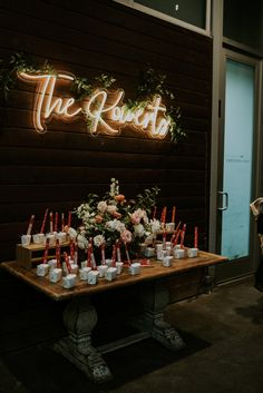"We love the way this sign highlights the ""late night snack"" table at this Houston Texas wedding planned by Piper & Muse   #houstonweddingplanner #weddingplanner #houstonwedding #houston #houstontexas #bride #wedding #texasweddings #weddinginspo #weddinginspiration #bridesofhouston #weddingsofhouston #weddingideas #weddingfavors #chinese #takeout #unique #LED #neon"