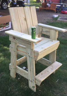 Big bar chair. Made from plans my cousin made. Very comfortable but heavy. May add wheels .