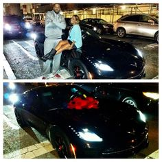 New York Knicks forward Carmelo Anthony was presented with this black 2014 Corvette Stingray Coupe for his 30th birthday. His wife LaLa surprised the NBA star with the car on Wednesday evening.