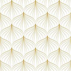 L Wallpaper, Tapete Gold, Motif Art Deco, Wall Clock Design, Gifts For Office, Art Plastique, Geometric Designs, Pattern Design, Gold Pattern