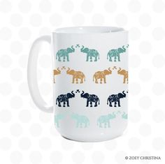 Elephant coffee mug,