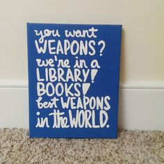 Doctor Who Books Canvas Quote Art by QuotesOfNote on Etsy