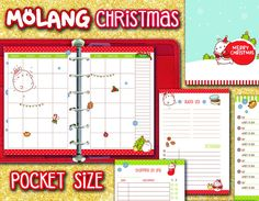 Christmas Planner pocket size - Molang theme by FiloDelight on Etsy
