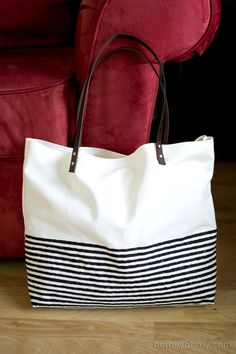 A great DIY project from Stylish Eve shows you the simple way to make a tote bag without needing a needle and thread. Simple but very effective!